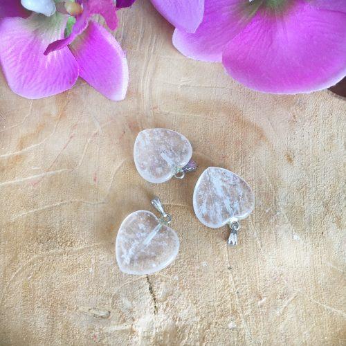 Bergkristal hanger hartje
