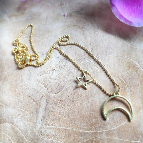 Sieraden set Golden Moon and Star