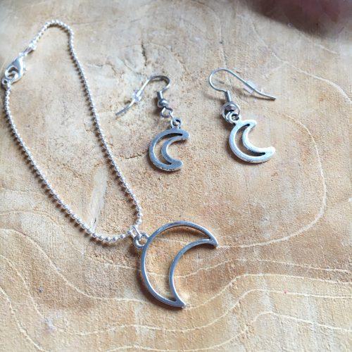 Sieraden set Silver Moon