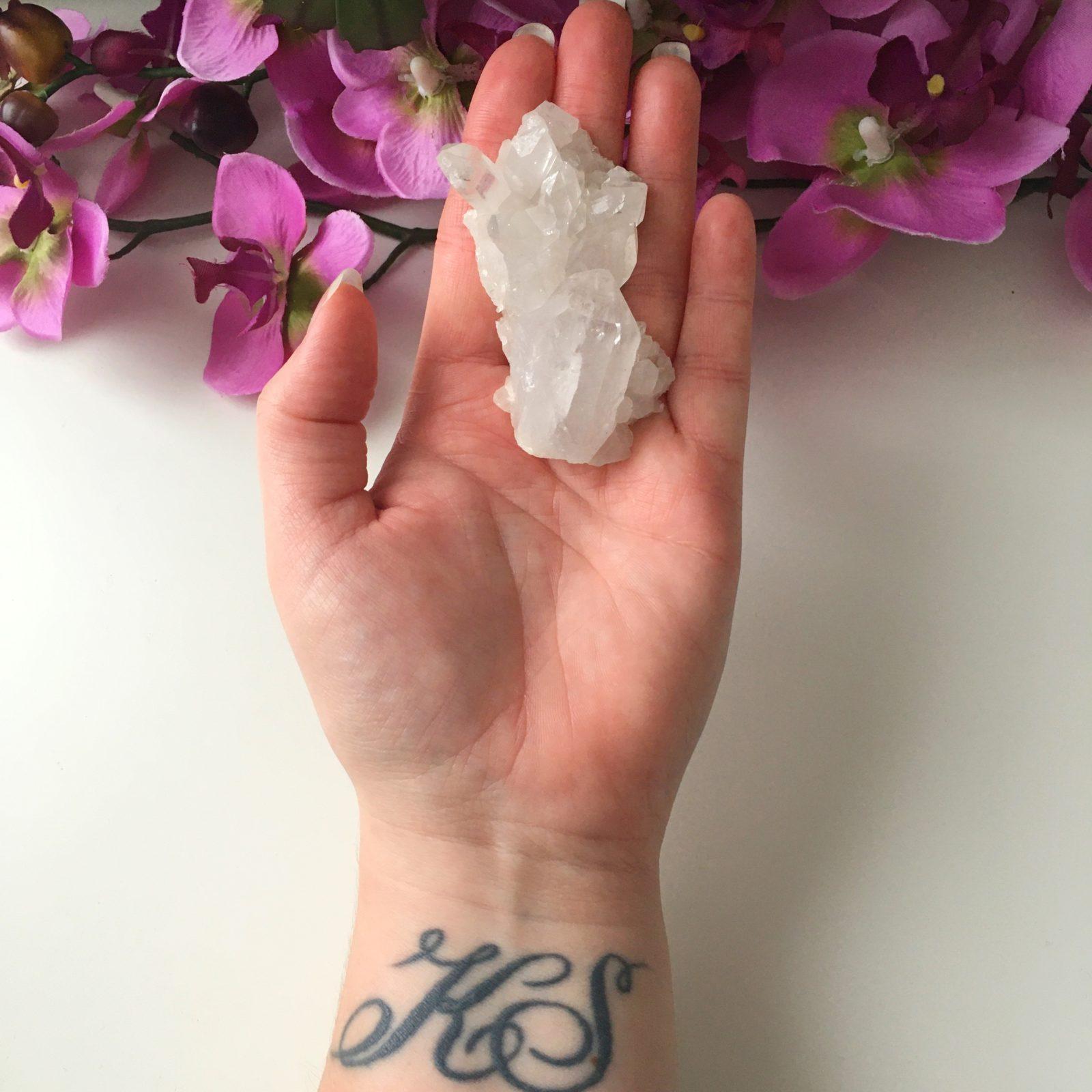 Bergkristal cluster Ruw (3)