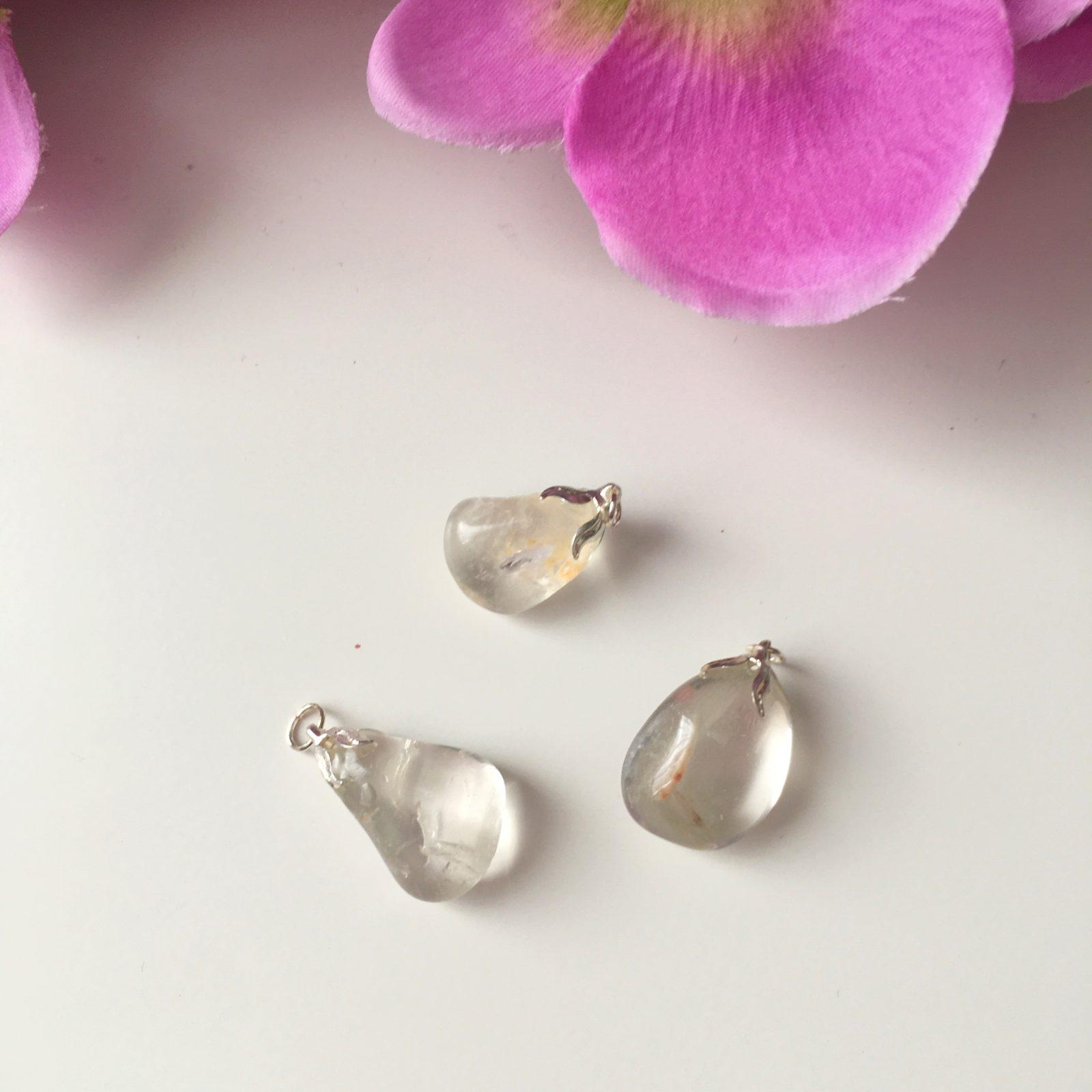 Bergkristal hanger - zilverkleur